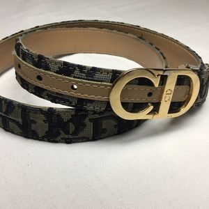 Christian Dior Vtg Monogram logo belt
